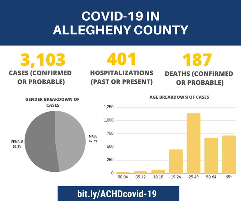 COVID-19 in Allegheny County as of July 2