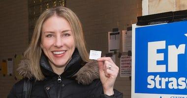 Erika Strassburger Casts Vote