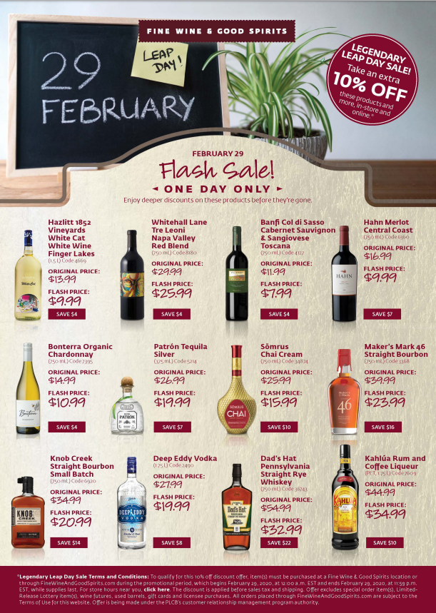 Leap Day 2020 Flash Sale Items