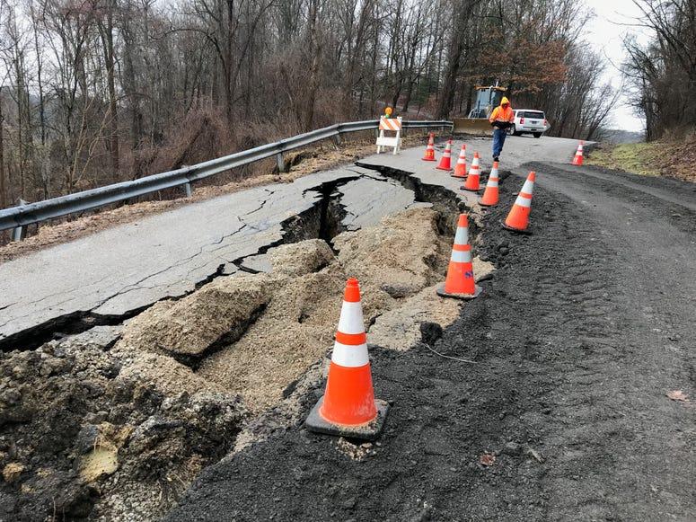 South Strabane Township landslide