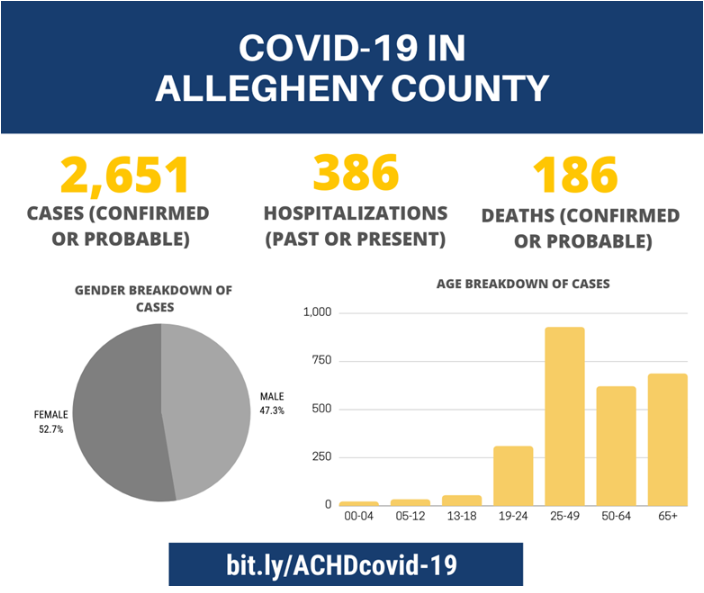 Allegheny County COVID-19 Numbers for June 29, 2020