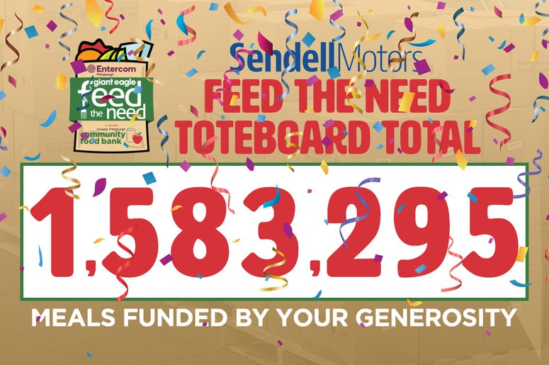 Sendell Motors Feed the Need Toteboard Total
