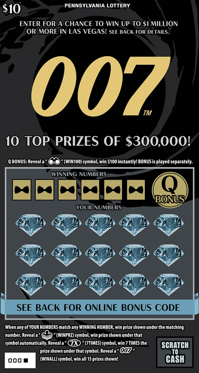 James Bond Lottery Game