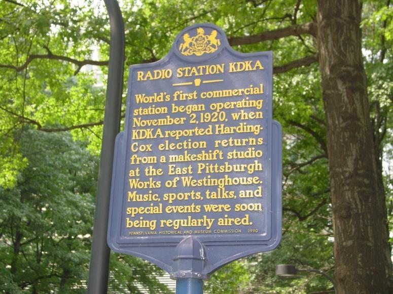KDKA Radio Historical Marker