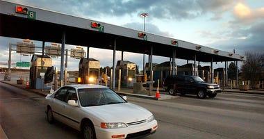 Motorists pass through Downingtown Interchange of the Pennsylvania Turnpike