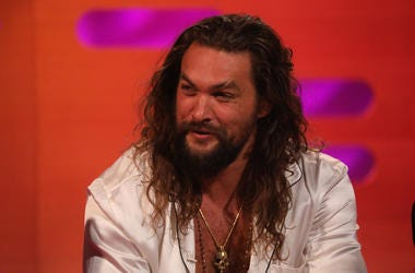 Jason Momoa during the filming for the Graham Norton Show at BBC Studioworks 6 Television Centre, Wood Lane, London, to be aired on BBC One on Friday evening.