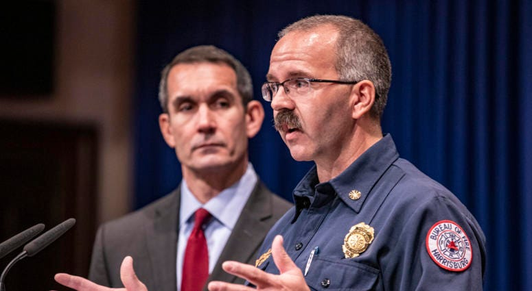Auditor General Eugene DePasquale, Harrisburg Fire Chief Brian Enterline