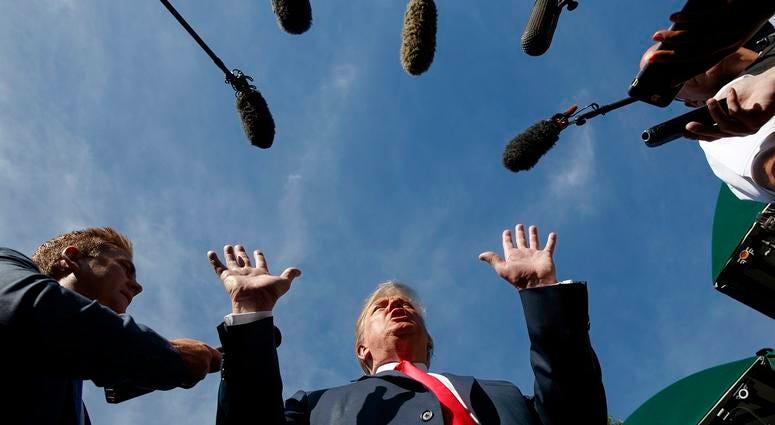 Trump Speaks To Reporters (AP)