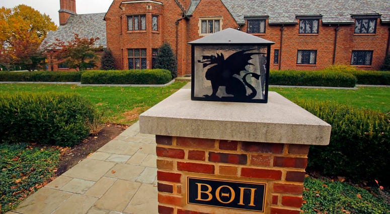 Beta Theta Pi fraternity house on Penn State University's main campus in State College, Pa