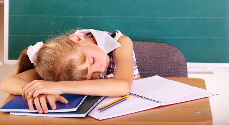 Sleeping Schoolchild