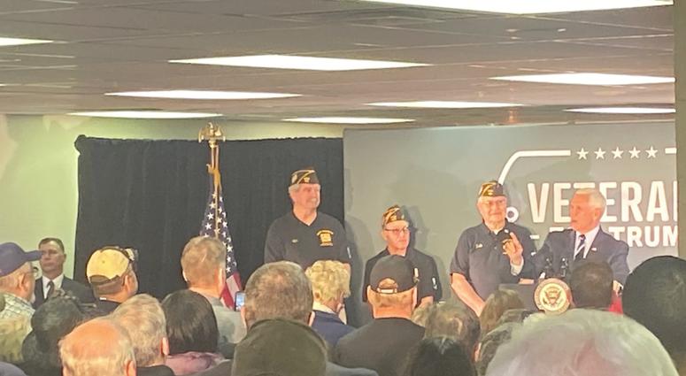 VP Mike Pence speaking in Beaver Country Dec. 10, 2019