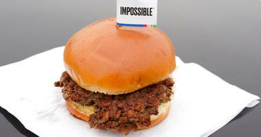 The Impossible Burger, a plant-based burger containing wheat protein, coconut oil and potato protein among it's ingredients