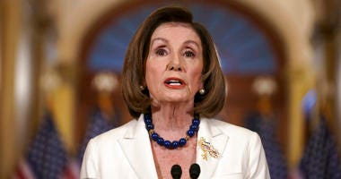 Speaker of the House Nancy Pelosi, D-Calif., makes a statement at the Capitol in Washington, Thursday, Dec. 5, 2019. Pelosi announced that the House is moving forward to draft articles of impeachment against President Donald Trump