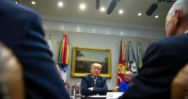 President Donald Trump speaks during a small business roundtable in the Roosevelt Room of the White House, Friday, Dec. 6, 2019, in Washington.