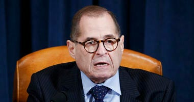 House Judiciary Committee Chairman Rep. Jerrold Nadler of N.Y., speaks during a House Judiciary Committee markup of the articles of impeachment against President Donald Trump, on Capitol Hill in Washington, Wednesday, Dec. 11, 2019.