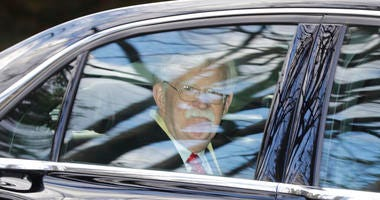 Former National security adviser John Bolton leaves his home in Bethesda, Md. Tuesday, Jan. 28, 2020.