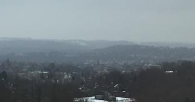 Light snow falling near Pittsburgh