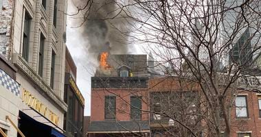 Fire at Wingharts in Station Square