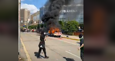 Police Police Vehicle on fire during George Floyd Protests