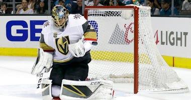 Vegas Golden Knights goaltender Marc-Andre Fleury