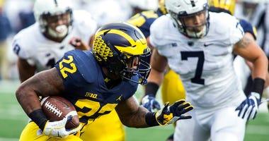 Michigan running back Karan Higdon