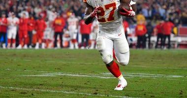 Kansas City Chiefs running back Kareem Hunt