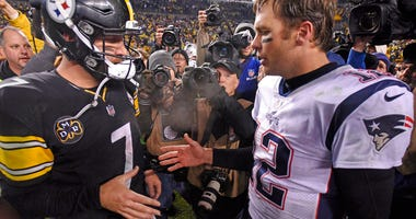 Pittsburgh Steelers quarterback Ben Roethlisberger and New England Patriots quarterback Tom Brady
