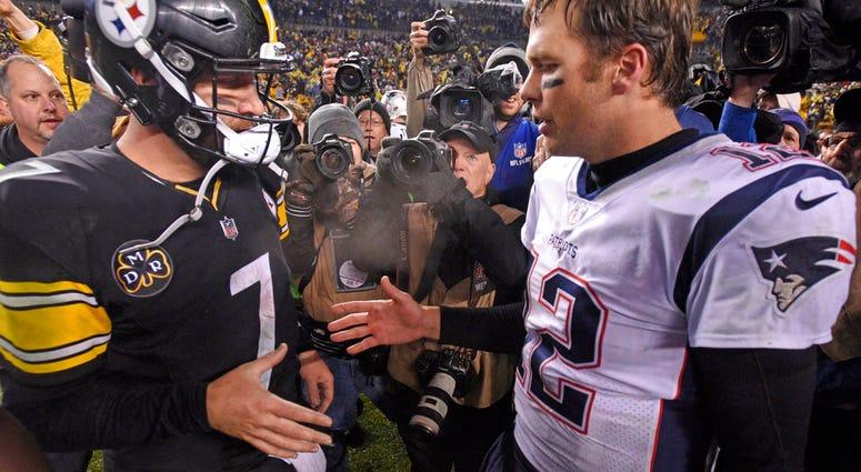 Pittsburgh Steelers quarterback Ben Roethlisberger and New England Patriots quarterback Tom Brady