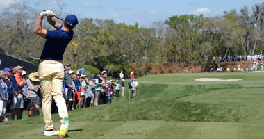 Rory McIlroy, of Northern Ireland, tees off on the second hole during the first round of the Arnold Palmer Invitational golf tournament Thursday, March 7, 2019, in Orlando, Fla