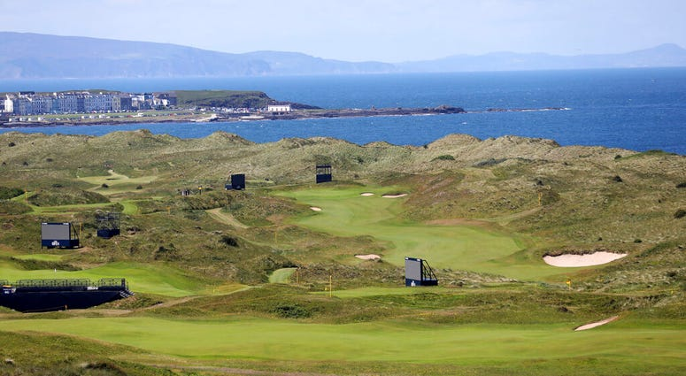 The Dunluce Links course at Royal Portrush Golf Club, Northern Ireland, Saturday, July 6, 2019. The Open Golf Championship will be played at Royal Portrush marking a historic return to Northern Ireland after it was last played there in 1951
