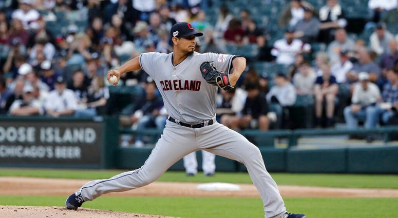Cleveland Indians starting pitcher Carlos Carrasco