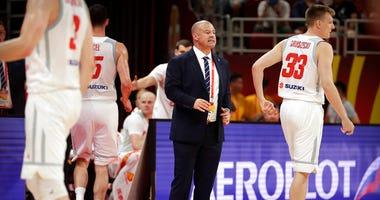 Poland's head coach Mike Taylor