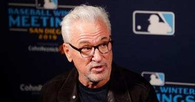 Los Angeles Angels manager Joe Maddon speaks during the Major League Baseball winter meetings Monday, Dec. 9, 2019, in San Diego.