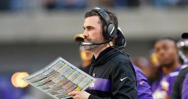 Minnesota Vikings interim offensive coordinator Kevin Stefanski