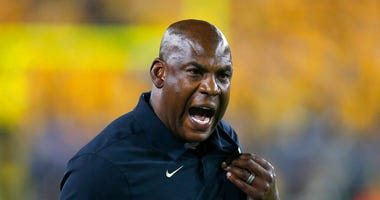 In this Sept. 21, 2019, file photo, Colorado head coach Mel Tucker reacts to a holding call in the second half during an NCAA college football game against Arizona State, in Tempe