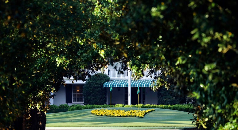 Augusta National Golf Club, seen down Magnolia Lane, is well manicured on what would have been the first practice round for the Masters golf tournament, Monday, April 6, 2020, in Augusta, Ga. The 2020 Masters, postponed because of the coronavirus pandemic