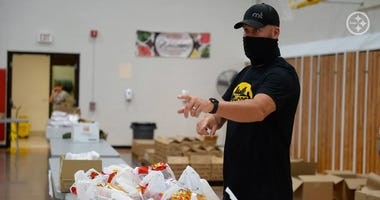 Ben Roethlisberger at Food Giveaway in New Castle