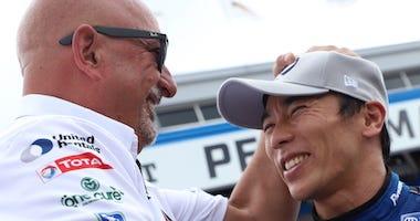 Bobby Rahal And Takuma Sato At NTT IndyCar Series Qualifying At Barber Motorsports Park