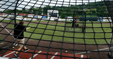 Chris Mueller Taking Batting Practice With The Washington Wild Things