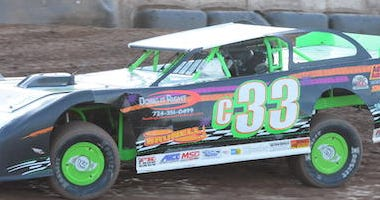 Corey McPherson's No. 33 Pro Stock Racing Around Lernerville Speedway