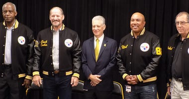 Larry Brown Bill Cowher Art RooneyII Hines Ward Joseph Nickel