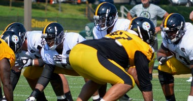 Steelers QB Joshua Dobbs at training camp in 2019