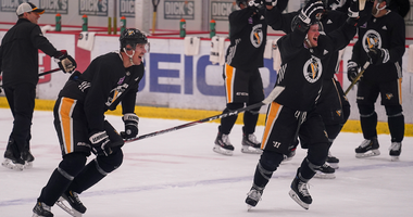 Penguins at practice