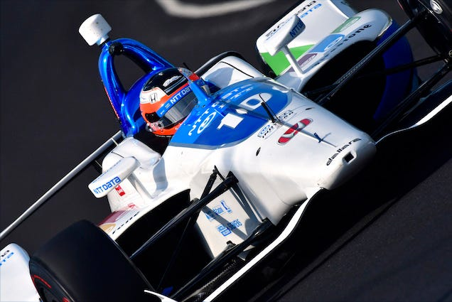 Felix Rosenqvist's NTT Data Chip Ganassi Racing Honda At Indianapolis Motor Speedway