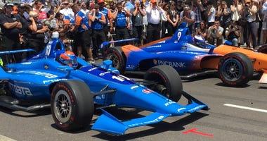 Ed Jones NTT Data And Scott Dixon PNC Bank Chip Ganassi Racing Honda's