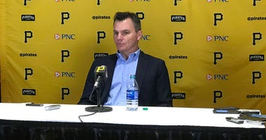 Pittsburgh Pirates GM Ben Cherington at press conference in January 2019