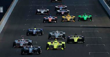 The Start Of the 102nd Indianapolis 500 At The Indianapolis Motor Speedway