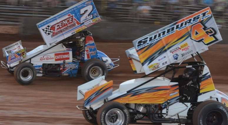 410 Sprint Car Action At Lernerville Speedway's Fab4 Friday Night