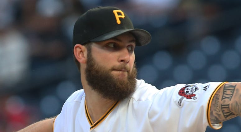 Pittsburgh Pirates starting pitcher Trevor Williams (34) delivers a pitch against the Atlanta Braves during the first inning at PNC Park.