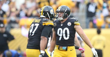 Pittsburgh Steelers defensive end Cameron Heyward (97) and outside linebacker T.J. Watt